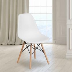 Flash Furniture Elon Series Plastic Chair, White