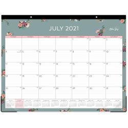 "Blue Sky™ Monthly Desk Pad, 17"" x 22"", Greta, July 2021 To June 2022, 131539"
