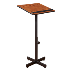 Oklahoma Sound? Portable Presentation Lectern Stand, Medium Oak