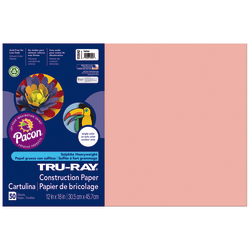 """Tru-Ray® Construction Paper, 12"""" x 18"""", 50% Recycled, Salmon, 50 Sheets"""