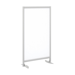 Bush Business Furniture Freestanding White Board Screen with Stationary Base, White, Standard Delievery