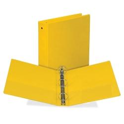 "Samsill® Economy View 3-Ring Binder, 2"" Round Rings, Yellow"