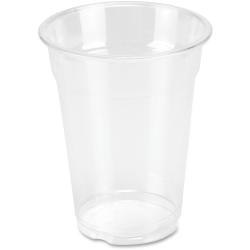 Genuine Joe Clear Plastic Cups - 25 - 10 fl oz - 500 / Carton - Clear - Plastic - Cold Drink, Beverage