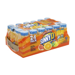 SunnyD Tangy Original Orange-Flavored Citrus Punch, 6.75 Oz, Pack Of 24