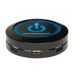 ChargeHub X7 7-Port USB Charger, Round, Black, CRGRD-X7-001