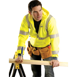 OccuNomix High-Visibility Sweatshirt Jacket, X-Large, Yellow