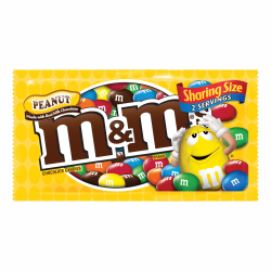 M&M's® Peanut Chocolate Candies, 3 Oz Bag