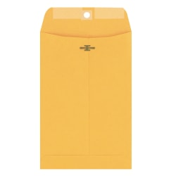 "Columbian® Clasp Envelopes, 6"" x 9"", 28-Lb, Brown Kraft, Box Of 100"