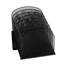 "Safco® Onyx Mesh 8-Tier Desk Organizer, 14""H x 11 3/4""W x 10 3/4""D, Black"