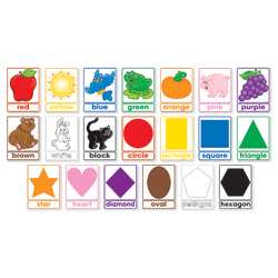 Scholastic Colors And Shapes 20-Piece Bulletin Board Set