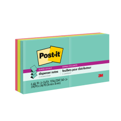 "Post-it® Super Sticky Pop-up Notes, 3"" x 3"", Miami, Pack Of 6 Pads"