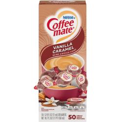 Nestlé® Coffee-mate® Liquid Creamer, Vanilla Caramel Flavor, 0.38 Oz Single Serve x 50