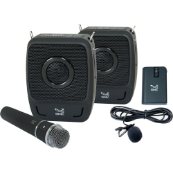 SMK-Link GoSpeak! Duet Wireless Portable PA System with Wireless Microphones (VP3450) - Weighs less than 5 pounds | Carries in a tote-bag | Sets up in seconds | fills rooms up to 200 people.