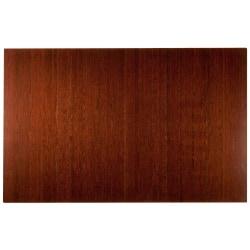 "Anji Mountain Bamboo Deluxe Roll-Up Chair Mat, 48"" x 72"", 8 mm""-Thick, Dark Cherry"