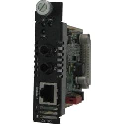 Perle C-100-S2ST80 Fast Ethernet Media Converter - 1 x Network (RJ-45) - 1 x ST Ports - 1000Base-ZX, 100Base-TX - External