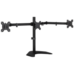 Mount-It! Triple Monitor Desk Stand, Black, MI-2789