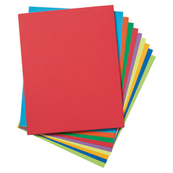 "Pacon® Tagboard, 8 1/2"" x 11"", Assorted Colors, Pack Of 50"