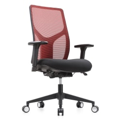 WorkPro® 4000 Series Mesh/Fabric High-Back Multifunction Chair, Red/Black