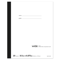 "Office Depot® Brand Schoolmate Composition Book, 6 7/8"" x 8 1/2"", Wide Ruled, 20 Sheets"