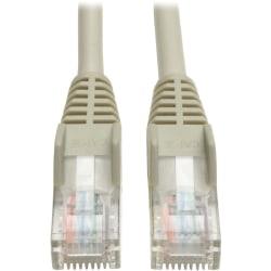Tripp Lite 5ft Cat5e / Cat5 Snagless Molded Patch Cable RJ45 M/M Gray 5' - 5ft - 1 x RJ-45 Male - 1 x RJ-45 Male - Gray