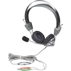 Manhattan Stereo Headset with Flexible Microphone Boom - Flexible stainless steel microphone boom for hands-free communication