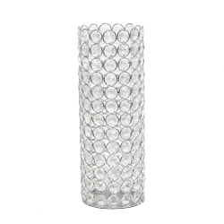 "Elegant Designs Ellipse Crystal Decorative Vase, 11-1/4""H x 4""W x 4""D, Chrome"