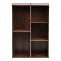 "IRIS 35""H 5-Compartment Organizer Bookcase, Brown"