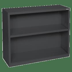 Lorell® Fortress Series Steel Bookcase, 2-Shelf, Black
