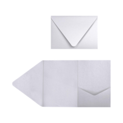 """LUX Pocket Invitations, A7, 5"""" x 7"""", Silver Metallic, Pack Of 120"""