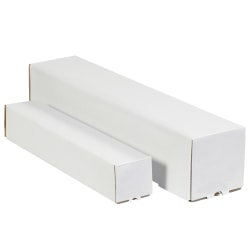 """Office Depot® Brand Square Mailing Tubes, 5""""H x 5""""W x 12""""D, White, Pack Of 25"""