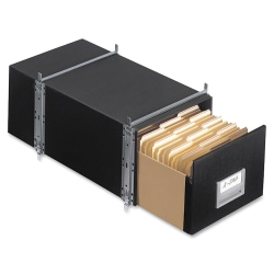 """Bankers Box® Staxonsteel® Storage Drawers, Letter Size, 24"""" x 12"""" x 10½"""", 60% Recycled, Black, Pack Of 6"""