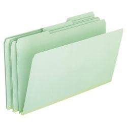 "Pendaflex® Pressboard Expanding File Folders, 1"" Expansion, Legal Size, Light Green, Box Of 25"