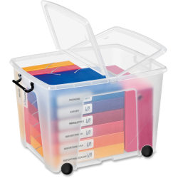 CEP Strata Smart Storemaster Heavy-Duty Storage Box With Butterfly Closure, Clear