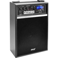 Pyle PWMAB250BK Public Address System - 300 W Amplifier - Built-in Amplifier - USB Port - Battery Rechargeable - 3 Hour