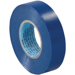 "Tape Logic® 6180 Electrical Tape, 1.25"" Core, 0.75"" x 60', Blue, Case Of 200"