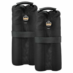 Ergodyne SHAX 6094 Tent Weight Bags, Black, Pack Of 2 Weight Bags