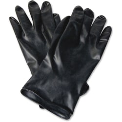 """NORTH 11"""" Unsupported Butyl Gloves - Chemical Protection - 9 Size Number - Butyl - Black - Water Resistant, Durable, Chemical Resistant, Ketone Resistant, Rolled Beaded Cuff, Comfortable, Abrasion Resistant, Cut Resistant, Tear Resistant"""