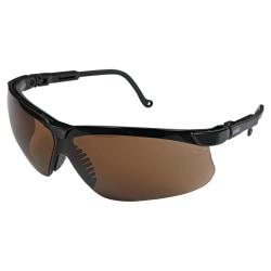 Sperian Wraparound Safety Eyewear, Black/Espresso