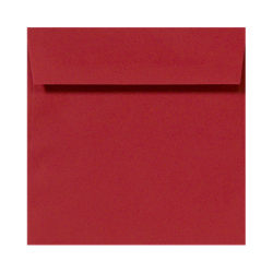 "LUX Square Envelopes With Peel & Press Closure, 5 1/2"" x 5 1/2"", Ruby Red, Pack Of 500"