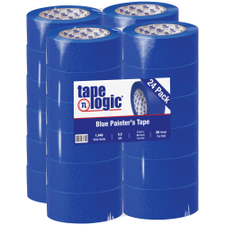 "Tape Logic® 3000 Painter's Tape, 3"" Core, 2"" x 180', Blue, Case Of 24"
