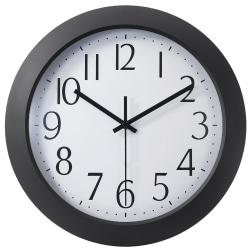 "Office Depot® Brand 12"" Flat-Panel Plastic Round Wall Clock"