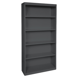 Lorell® Fortress Series Steel Bookcase, 5-Shelf, Black