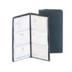 Cardinal Business Card Library, Vinyl, 72-Card Capacity, Black