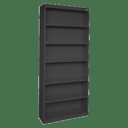 Lorell® Fortress Series Steel Bookcase, 6-Shelf, Black