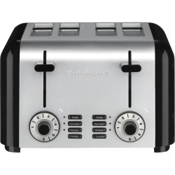 Cuisinart 4-Slice Compact Stainless Toaster - Toast, Reheat, Defrost, Bagel - Stainless