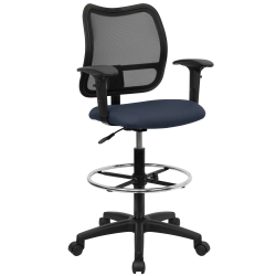 Flash Furniture Mesh Mid-Back Drafting Chair, Navy/Black