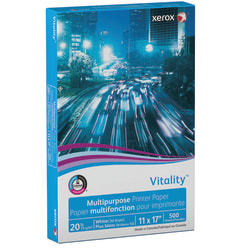 "Xerox® Vitality™ Multi-Use Printer Paper, Ledger Size (11"" x 17""), 20 Lb, FSC® Certified, Ream Of 500 Sheets"