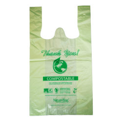 "StalkMarket Compostable Large T-Shirt Bags, 0.9 mil, 21"" x 18-1/2"", Pack Of 500 Bags"