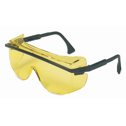 Astrospec OTG 3001 Eyewear, Amber Lens, Anti-Scratch, Hard Coat, Black Frame