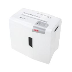 HSM shredstar S10 Strip Cut Shredder - Strip Cut - 10 Per Pass - for shredding CD, DVD, Paper - P-2 - 4.80 gal Wastebin Capacity - White
